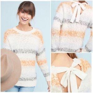 Meadow Rue Kennedy Striped Jumper Pullover Sweater
